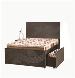 DOUBLE BED, ALDER SAGE 2, BOTH SIDE DRAWER STORAGE (KING SIZE) 78X72 (In)